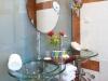 BATH ROOM IN DELUX ROOM RETHYMNO MARE.